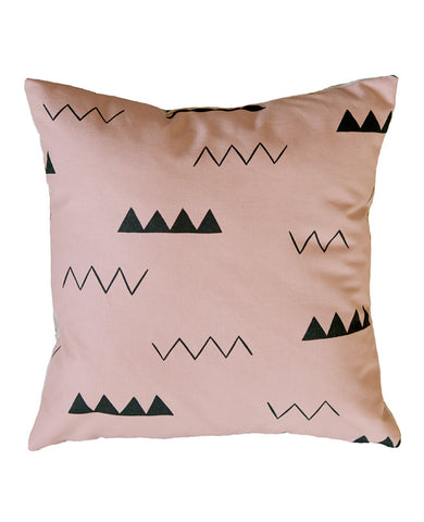 Blush Pink Zig Zag Pillow
