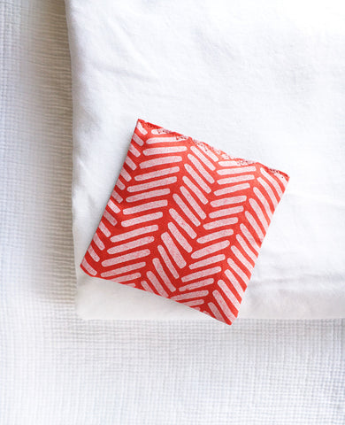 Modern red sachet - made with organic lavender