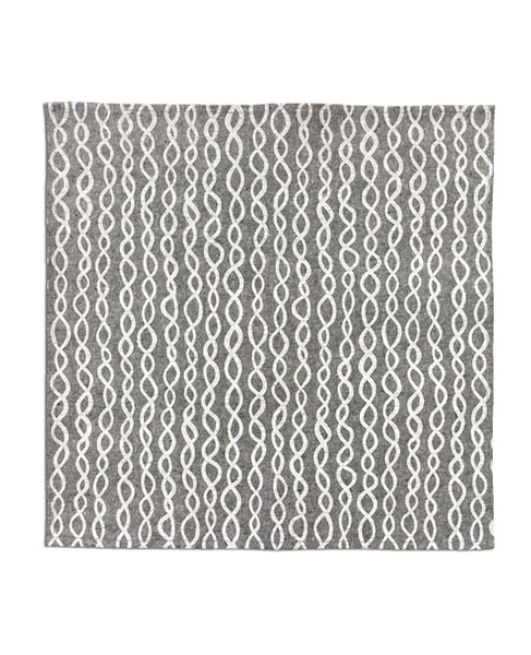 DNA pattern chambray linen dinner napkin - Cotton & Flax