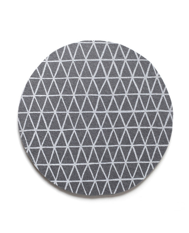 Charcoal Triangle Trivet - Cotton & Flax