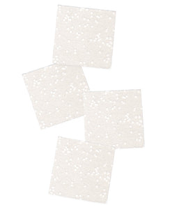 Cosmic White Confetti Coasters