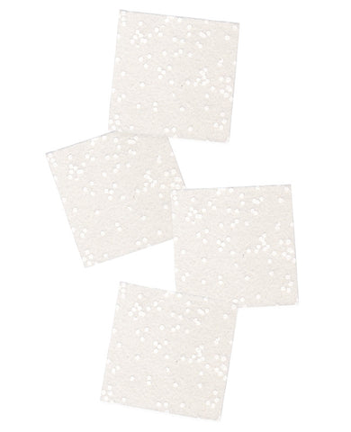 Cosmic White Confetti Felt Coasters - Cotton & Flax