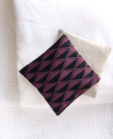 Modern lavender sachet - made with geometric print linen