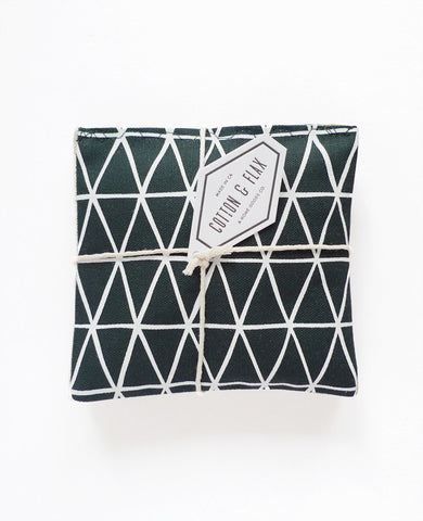 Lavender sachets - Dark Teal Triangle Pattern