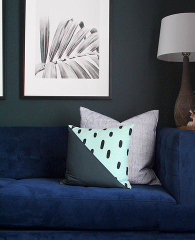 Diagonal pattern pillow from Cotton & Flax