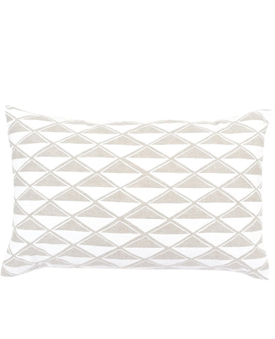 Linen diamonds oblong throw pillow - Cotton & Flax