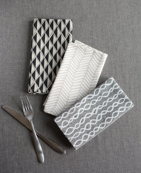 Linen dinner napkins from Cotton & Flax