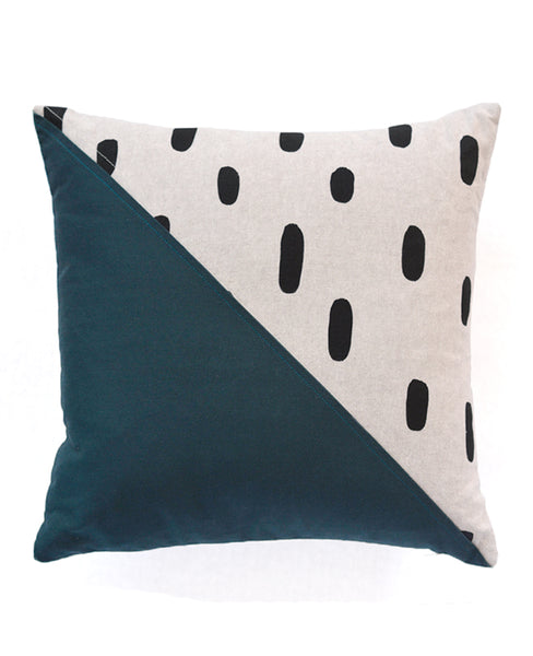 Modern quilted throw pillow from Cotton & Flax