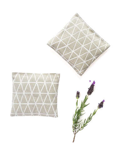 Linen Lavender Sachets - Flax Triangle