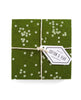 Forest green confetti coasters