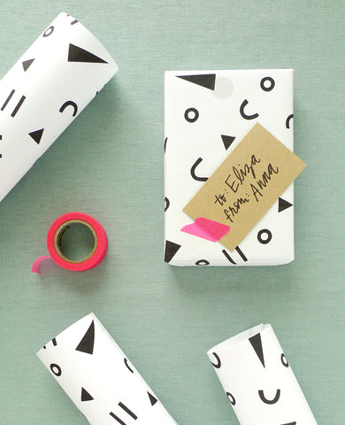 Handprinted gift wrap workshop