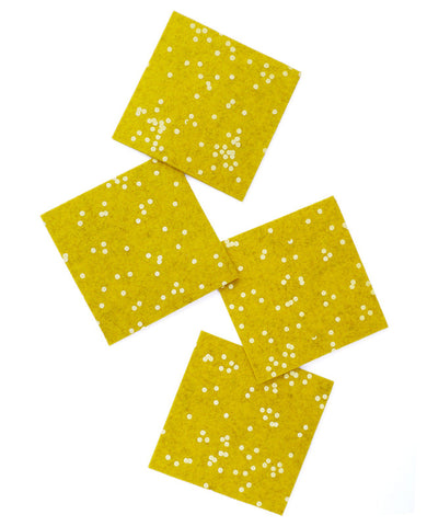 Gold Confetti Coasters - Cotton & Flax