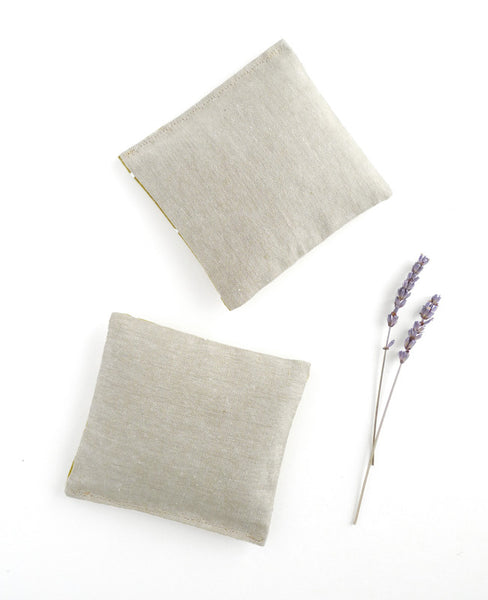 Linen Lavender Sachets - Gold Triangles