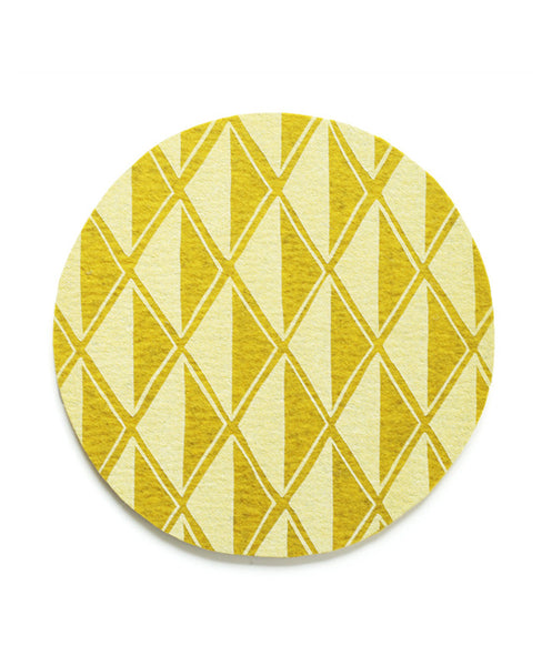 Gold Diamond Trivet - Cotton & Flax