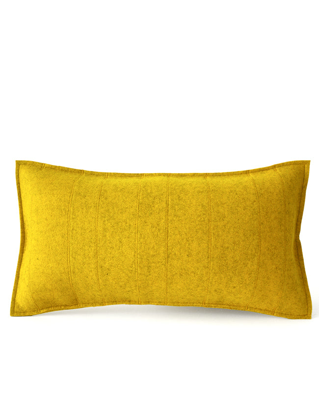 Gold wool felt lumbar pillow - Designed by Cotton & Flax