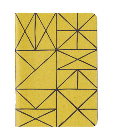 Gold Grid Notebook - 5x7in. recycled notebook
