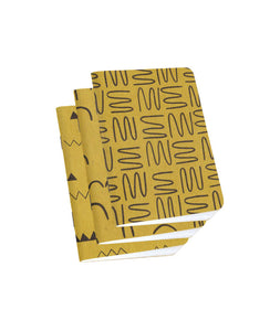 Set of three gold patterned notebooks — designed by Cotton & Flax