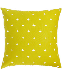Gold Linen Plus Throw Pillow - Cotton & Flax