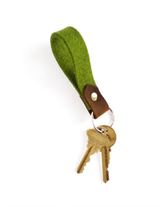 Natural Felt Keychain from Cotton & Flax