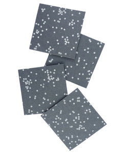 Charcoal Confetti Coasters - Cotton & Flax