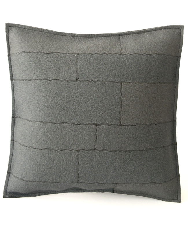 Grey wool felt throw pillow - designed by Cotton & Flax