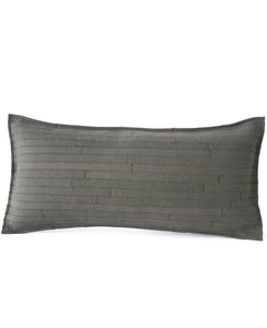 Grey felt lumbar pillow made by Cotton & Flax