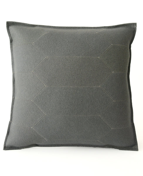 Grey Wool Felt Throw Pillow