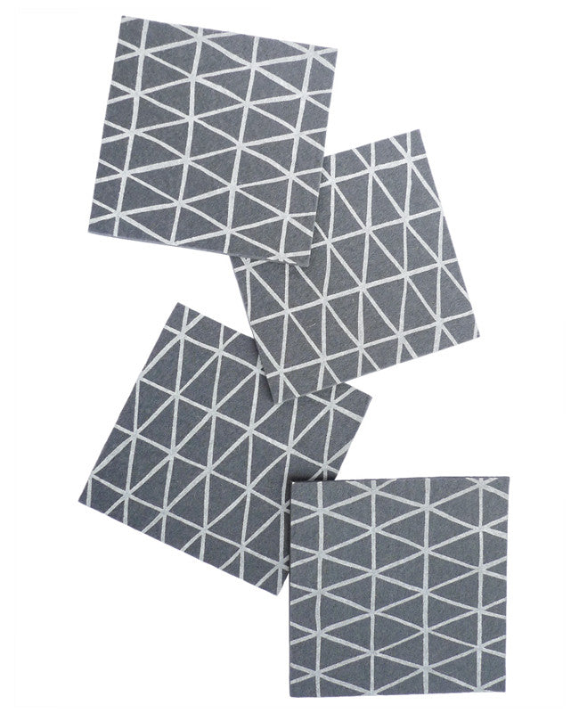 Charcoal Triangle Coasters - Cotton & Flax