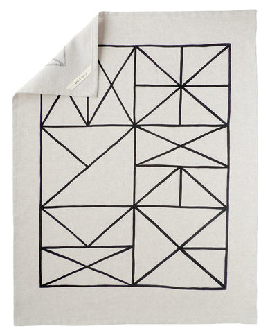 Grid Tea Towel - Cotton & Flax