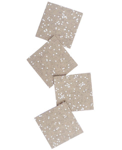 Latte Confetti Coasters - Cotton & Flax
