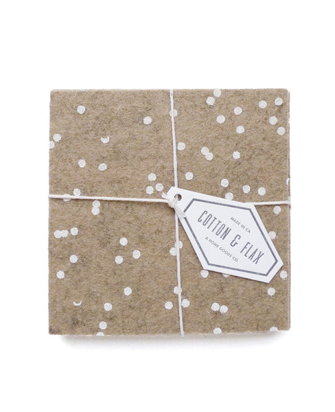 Latte confetti coaster set from Cotton & Flax