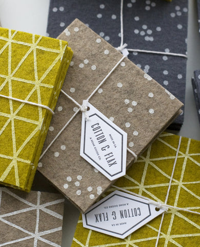Patterned felt coasters - Cotton & Flax