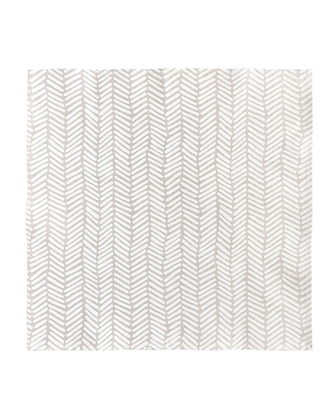Linen dinner napkin from Cotton & Flax - Herringbone pattern