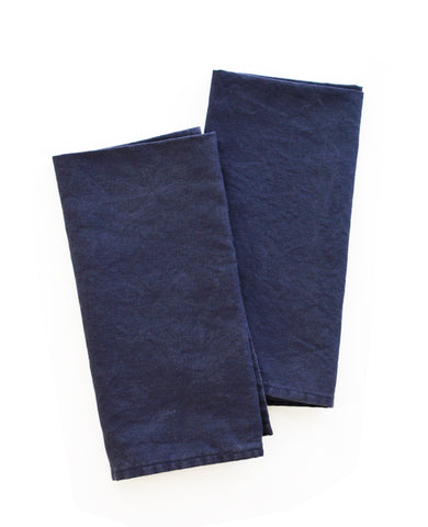 Linen napkins - Midnight Blue - Cotton & Flax