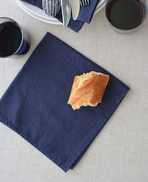 Midnight Blue Napkins - made with linen - Cotton & Flax