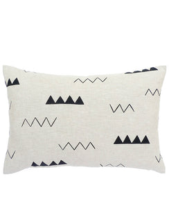 Zig Zag Throw Pillow - Cotton & Flax