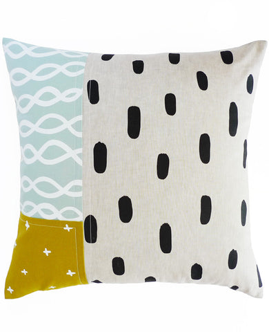 Shallow Tide Patchwork Pillow - 18.5""
