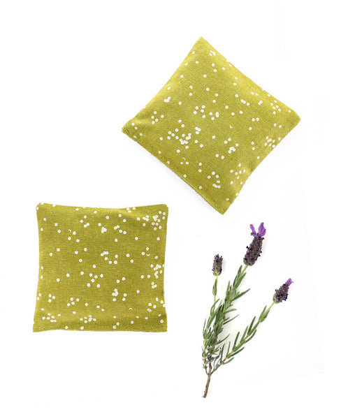 Lavender sachets - made with sunflower confetti fabric