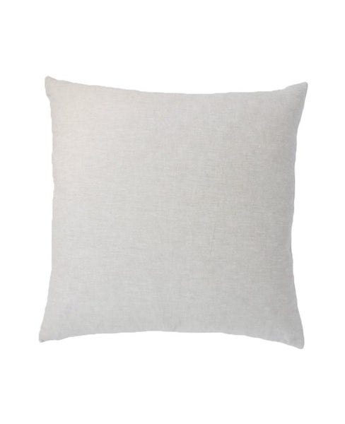 Linen throw pillow from Cotton & Flax - reverse unpatterned side