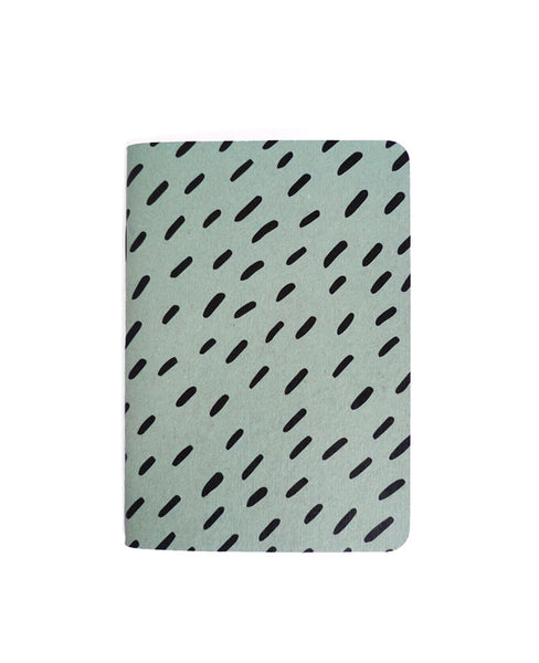 Blue Patterned Notebook — Cotton & Flax