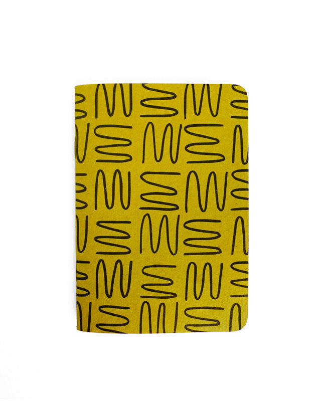 Gold Squiggle Notebook — Cotton & Flax