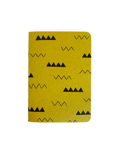 Zig Zag patterned notebook — Cotton & Flax