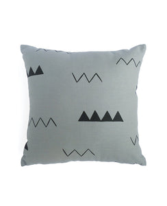 Smoke Grey Zig Zag Mini Pillow
