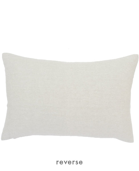 Reverse side: plain linen throw pillow from Cotton & Flax
