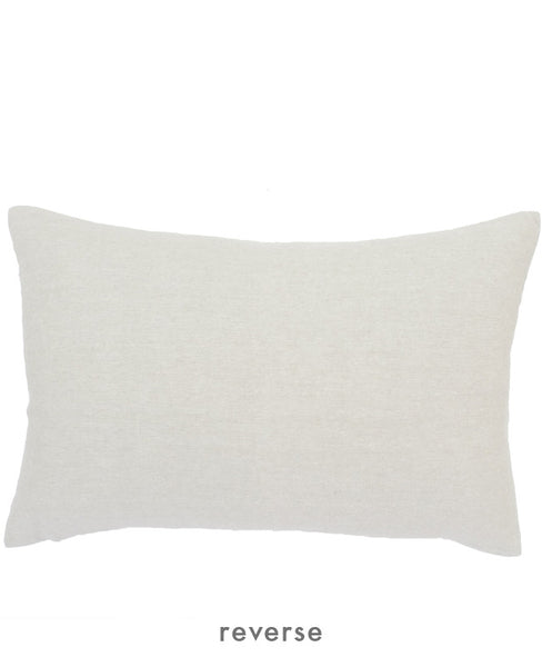 Linen throw pillow reverse
