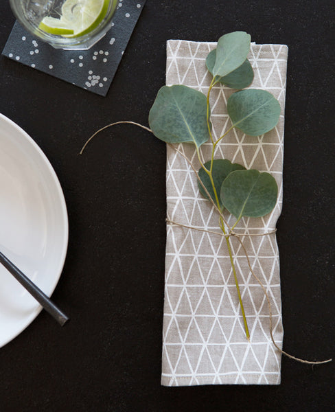 Linen Cocktail Napkins - Table Setting