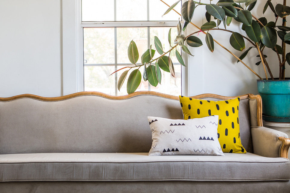 Modern printed textile homegoods - Cotton & Flax