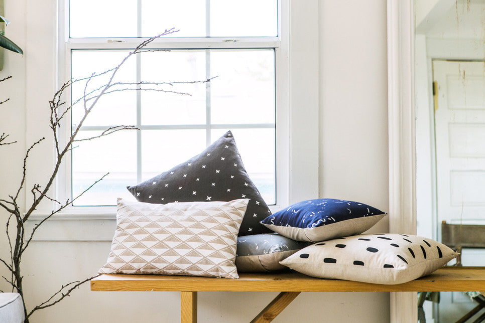 Patterned throw pillows - Cotton & Flax