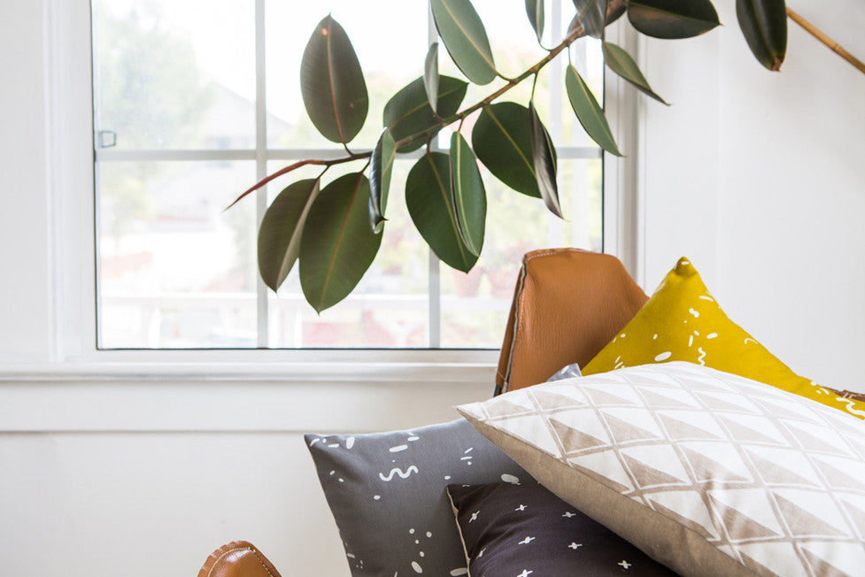 Patterned throw pillows - Handmade in California