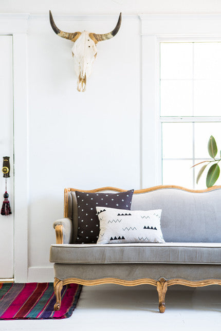 Modern printed throw pillows from Cotton & Flax